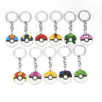 Handmade Dress Up POKEMON PIKACHU Inspired Keychain Ultra Ball Poke Ball Anime Keychain Keyring Pendant Ash Ketchum Present A