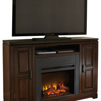 Steve Silver Chamberlain Black Granite Media Fireplace Set in Espresso - traditional - furniture - by Beyond Stores