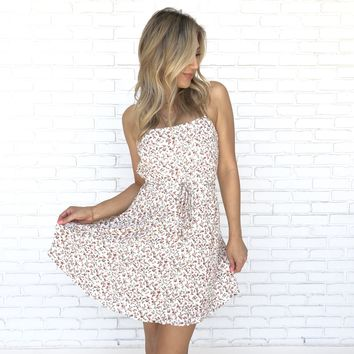 Dainty Floral Daytime Skater Dress
