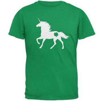 CREYCY8 St. Patrick's Day Silhouette Unicorn Mens T Shirt
