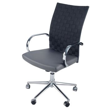 Rune PU Leather Office Chair, Rocky Gray