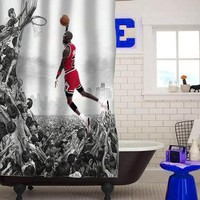 michael jordan fly custom shower curtain