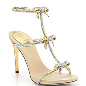 Rene Caovilla - Strass Swarovski Crystal Bow Sandals - Saks Fifth Avenue Mobile