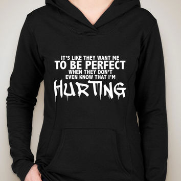 "Justin Bieber ""I'll Show You - It's like they want me to be perfect when they don't even know that I'm hurting."" Unisex Adult Hoodie Sweatshirt"