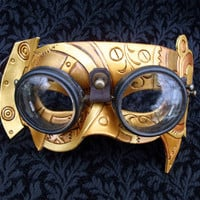 Fullsteam Vintage Goggles Steampunk Mask original by Merimask