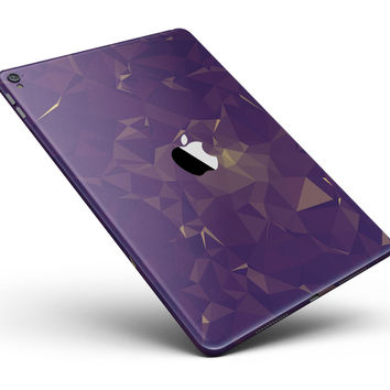 "Abstract Purple and Gold Geometric Shapes Full Body Skin for the iPad Pro (12.9"" or 9.7"" available)"