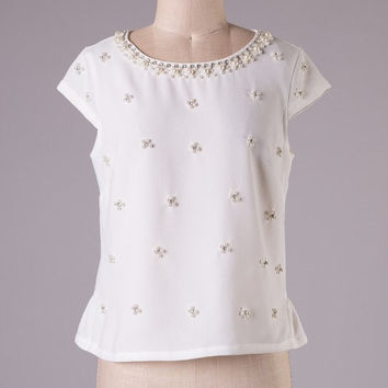 Audrey Pearl Embellished Blouse