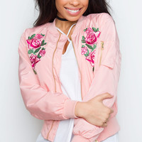 Think Of Me Bomber Jacket - Blush