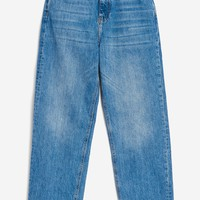 MOTO Mid Blue Straight Leg Jeans | Topshop