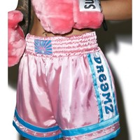 Bunny Dreamz Pastel Muay Thai Satin Shorts | Dolls Kill