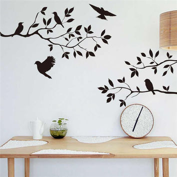 black tree branch wall stickers wall stickers of birds or home decor wall art decor SM6