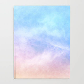 Pastel Watercolor Notebook, Rainbow Art Journal, Pink Cloud Handmade Journal, Unlined & Lined Journal, Sky Journal, Pretty Dream Journal