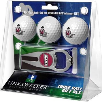 New Mexico State Aggies 3 Ball Gift Pack with Hat Trick Divot Tool