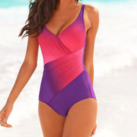 Gradient Print One-Piece Bathing Suit