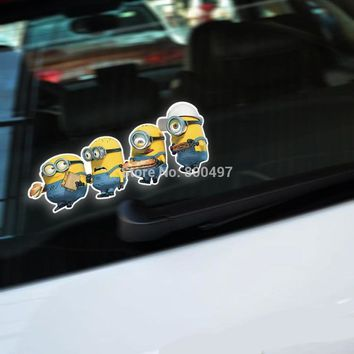 Newest Minions Despicable MeJerry Stuart Body Stickers Car Decal for Toyota  Chevrolet Volkswagen Tesla  Kia Lada