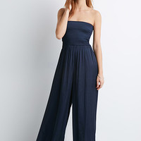 Smocked Wide-Leg Jumpsuit
