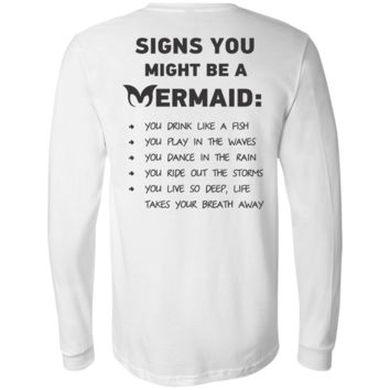 Signs You Might Be A Mermaid Men's Jersey LS T-Shirt