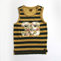 Scotch Shrunk Boys Stripe Tanktop With Artwork - 1541-03.52501 - FINAL SALE