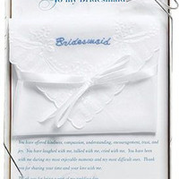 Embroidered Bridesmaid Hankie in Gift Box