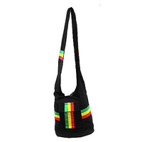 Rasta Shoulder Purse Sling bag Tote bag-Rasta Stripes Shoulder Bag Purse-New!