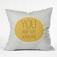 Allyson Johnson You Really Are My Sunshine Throw Pillow