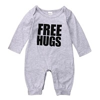 Autumn Winter 2016 Newborn Kids Baby Boys Cotton Romper Long Sleeve Jumpsuit Outfits Clothes