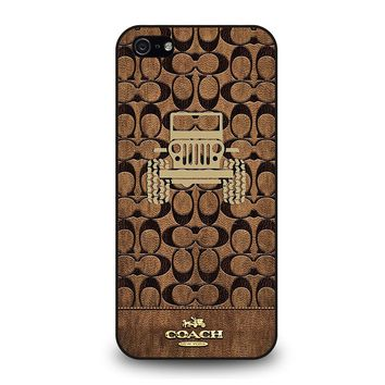 COACH NEW YORK JEEP iPhone 5 / 5S / SE Case