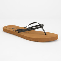 Roxy Cabo Womens Sandals Black  In Sizes