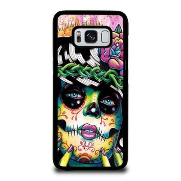 DAY OF THE DEAD SKULL GIRL Samsung Galaxy S3 S4 S5 S6 S7 Edge S8 Plus, Note 3 4 5 8 Case Cover