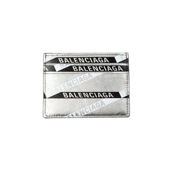 Silver Metallic Card Case by Balenciaga
