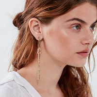 Delicate Chain Knot Drop Earring   Urban Outfitters