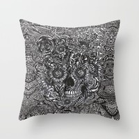 Sensory Overload Skull Throw Pillow by Kristy Patterson Design | Society6