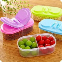 1pc Color Random Portable Microwave Bento Food Container Storage Picnic Lunch Bowl