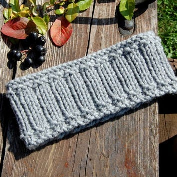 UNISEX Knitted Headband, Hand knit headband, Knitted Ear Warmer, Hand knit hair accessory, knitted turban