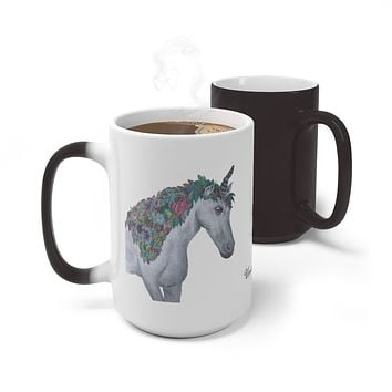 Color Changing Mug featuring the Fall Unicorn at Moose Pond