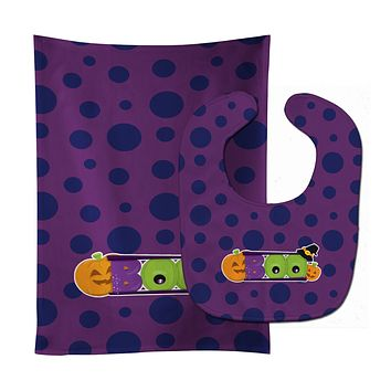 Halloween Boo Baby Bib & Burp Cloth BB8793STBU