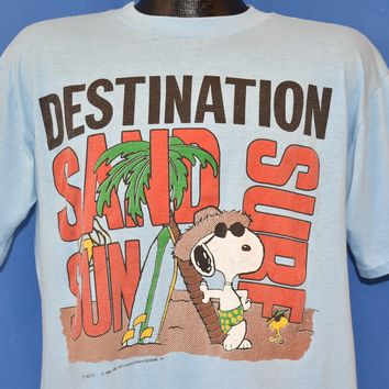 80s Snoopy Destination Sand Surf Sun t-shirt Large