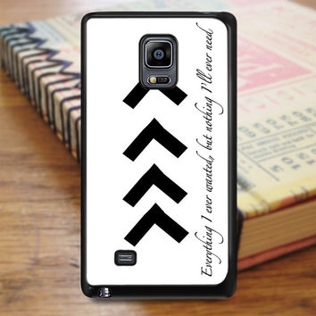 Liam One Direction Arm Tattoos Quotes Samsung Galaxy Note Edge Case