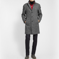 Canali - Kei Unstructured Herringbone Wool-Blend Overcoat | MR PORTER