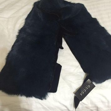 ESBON3F Gucci Fur Shawl/ Scarf With Velvet Trimming. NWT New lower price!!! Last listing