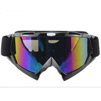 Adult Colourful double Lens Snow Ski Snowboard Goggles Motocross Anti-Fog Fashion Eye Protection Black Colourful