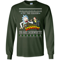rick & morty sweater: tis the season to get schwifty sweater, T-Shirt