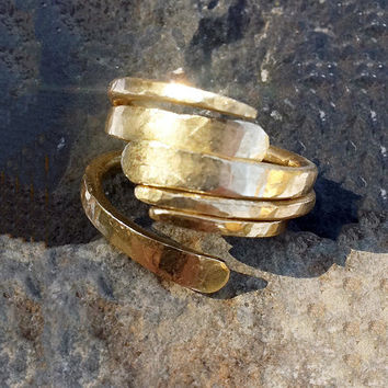 RING Hammered Forged Stackable Organic Rustic by GGoriginal