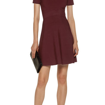 Ribbed and stretch-knit mini dress | T by Alexander Wang | US | THE OUTNET