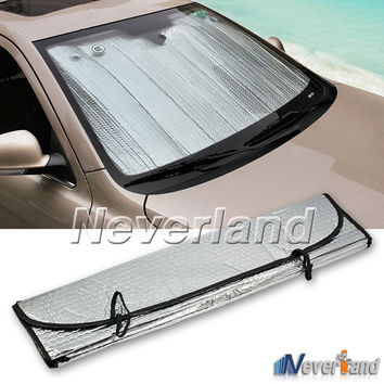 Universal Reflective Car Aluminum foil Windscreen Sunshade Front Window Sun Shade Windshield Visor Cover UV Protect D10