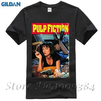 Quentin movie Pulp Fiction T-shirt Top  Cotton Men T shirt Top Tees High Quality S-3XL personalized shirts