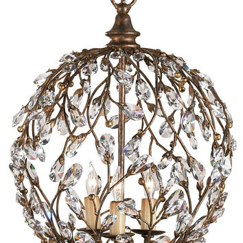 Currey Company Crystal Bud Sphere Chandelier