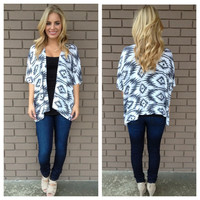 Black & White Tribal Cardigan