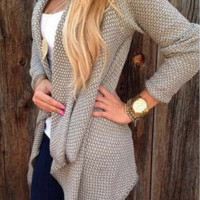 Fashion Womens Knitted Sweater Coat