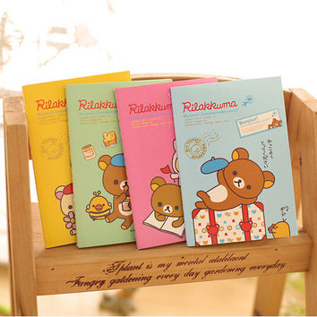 D44 1X Kawaii Cute Mini Rilakkuma Portable Soft Notebook Stationery Diary Sketchbook School Planner Student Gift